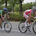 Simon Cui (Specialized) leading Cui Yinhao (China Trek Racing)